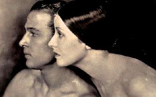 Rodolfo Valentino con la moglie Natacha Rambova