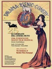 locandina della XXV edizione di Le Giornate del Cinema Muto
