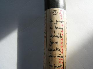 Bastone inciso da Serge Pey