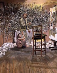Lucian Freud - The painter surpreised by a naked admirer, 2004-2005
