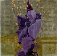 Egon Schiele - Fiori stilizzati su fondo decorativo, 1908