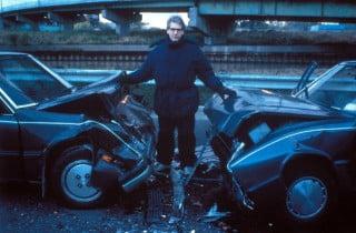 Cronenberg sul set di Crash, tratto da un romanzo di Ballard