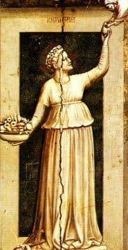 La Caritas di Giotto, Cappella degli Scrovegni, Padova