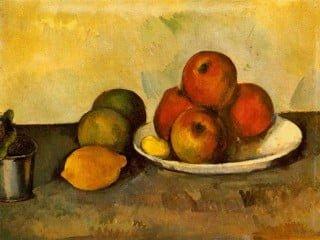 Cézanne - Natura morta con mele (1896)