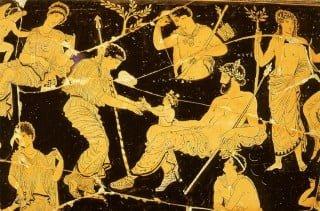 """Vaso """"Nascita di Dioniso"""""""