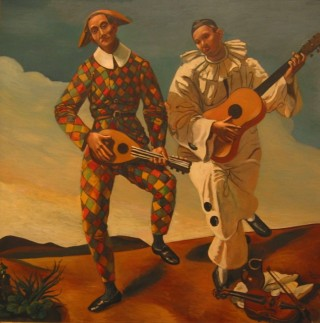 """André Derain """"Arlequin et Pierrot"""" 1924"""