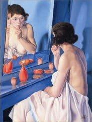"""copertina del libro, quadro """"Donna allo specchio"""" di Cagnaccio da San Pietro"""