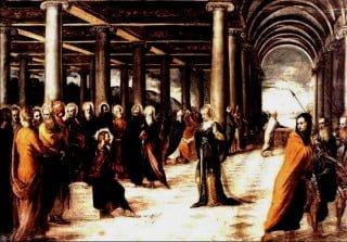 Il dipinto Cristo e l'adultera