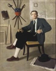 Antonio Bueno - Autoritratto con pipa