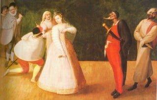 Ritratto di Isabella Andreini, attrice della Troupe dei Gelosi-Comédiens Italiens
