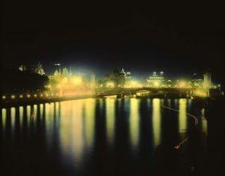 Veduta notturna di Parigi