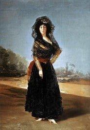 La Duchessa d'Alba vestita di nero