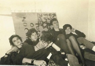 Not Moving, backstage, 1985