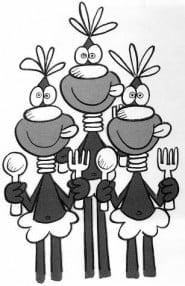 """Gli Ottentotti, personaggi creati per la serie Pavesi dei """"cavalieri della tavola rotonda"""""""