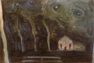 Paesaggio notturno di Piet Mondrian