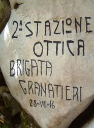 Un graffito dei soldati italiani