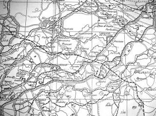 Dettaglio di una mappa della zona