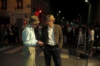 Woody Allen con Owen Wilson sul set di Midnight in Paris