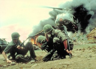 Una scena del film Apocalypse now