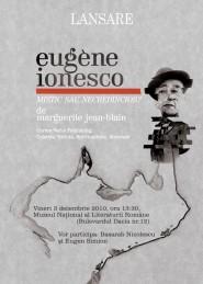 Poster di un convegno letterario incentrato su Ionesco