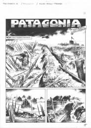 Prima tavola del fumetto Patagonia