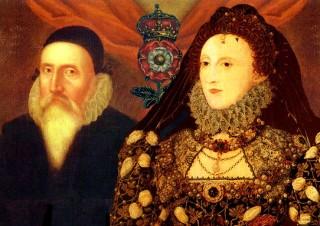 La regina Elisabetta I con John Dee