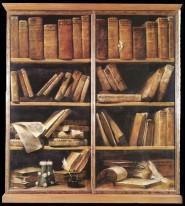 Giuseppe Maria Crespi - scaffale di libri