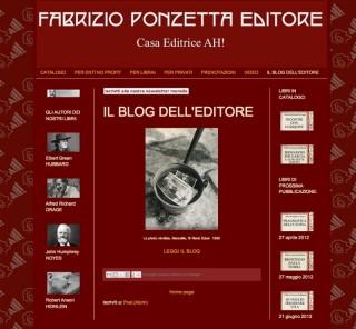 Sito web della Fabrizio Ponzetta Editore