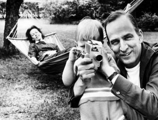 Ingmar Bergman con suo figlio Daniel