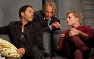 Lenny Kravitz, Woody Harrelson e Josh Hutcherson in Hunger games