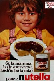 Vecchio manifesto pubblicitario della nutella