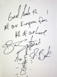 L'autografo di Springsteen ai fan europei: è un po' anche mio