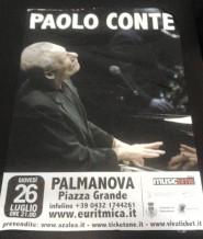 Locandina Paolo Conte Palmanova 2012