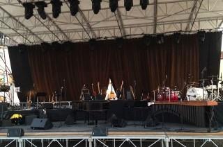Il palco di Paolo Conte a Palmanova