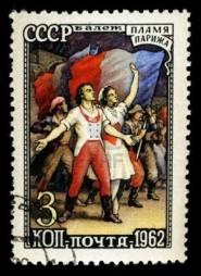 Francobollo russo dedicato alla Rivoluzione Francese