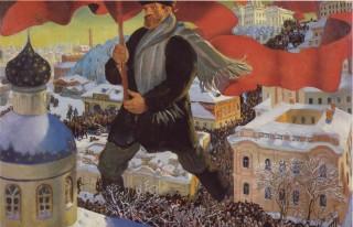 Lenin guida il popolo alla Rivoluzione