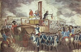 Quadro raffigurante Sanson durante un'esecuzione