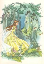 Biancaneve in un disegno d'epoca
