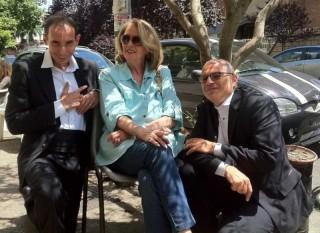 Mario e Guido con Daniela Bianchi