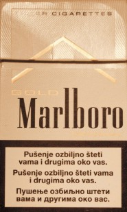 Scritta sulle sigarette vendute in Bosnia