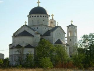 La cattedrale serbo-ortodossa di Podgorica, in Montenegro