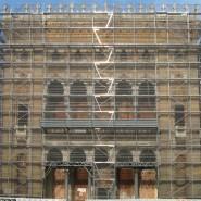 Biblioteca nazionale a Sarajevo durante il restauro