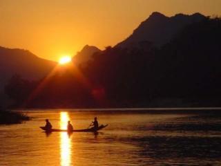 tramonto sul Mekong