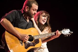 Francesco Forni e Ilaria Graziano sul palco del Palladium