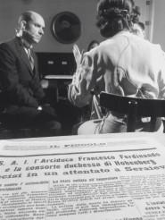 Una foto di scena con Riccardo Beltrame e Giustina Testa
