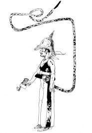 Salvagno - autoritratto con rimandi a vari fumetti